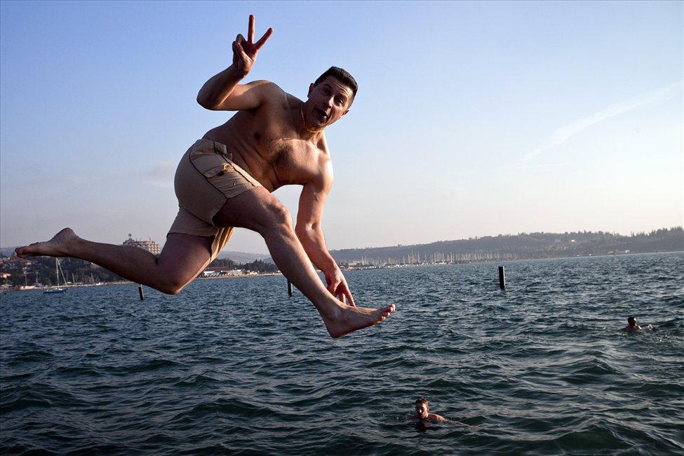 skok v morje