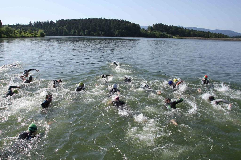 triatlon jezero